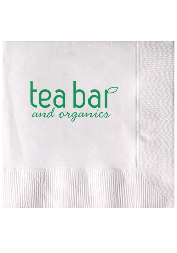 Customized White 2-Ply Beverage Napkins