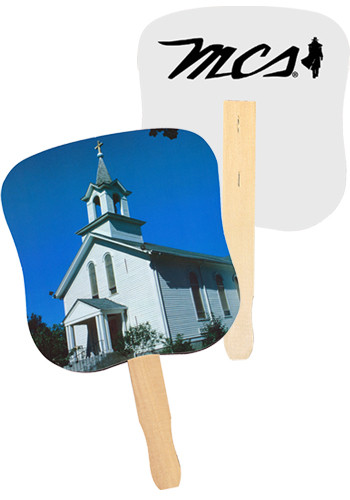 White Church Hand Fans | AK33052