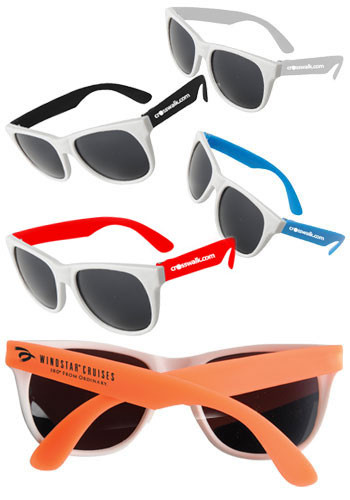 White-Framed Neon Sunglasses