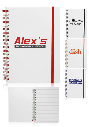 Personalized White Spiral Notebooks