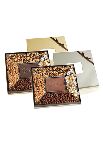 Gmet Samplers in Gift Boxes with Chocolate Centerpieces | X10339