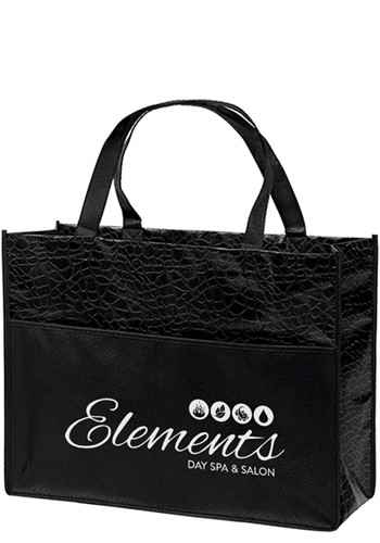 Couture Gloss Laminated Non-Woven Tote Bags | BM39LPBKS1612