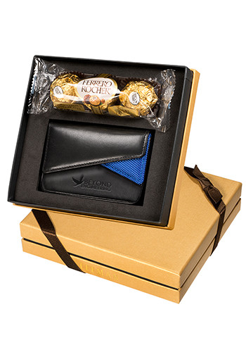 Ferrero Rocher Chocolates & Leather Card Case Gift Set |PLLG9231
