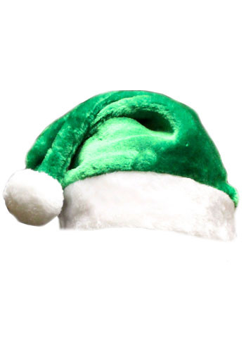 Custom green plush santa hats wchat discountmugs