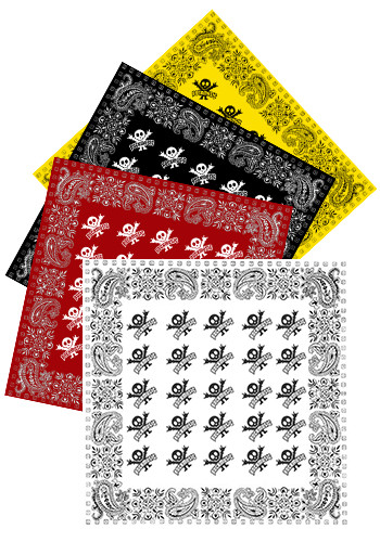 Customized 22W x 22H Solid Bandanas