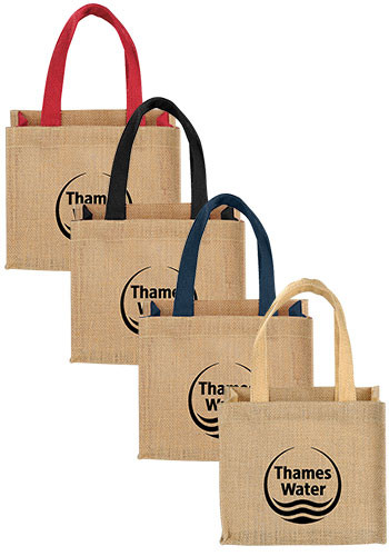 2e09efca4 Personalized Mini Jute Tote Bags