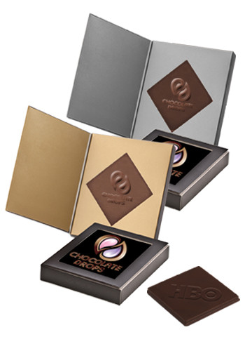 Personalized 1.5oz. Belgian Chocolate Greeting Cards