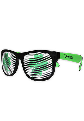 Shamrock Neon Green Billboard Plastic Sunglasses