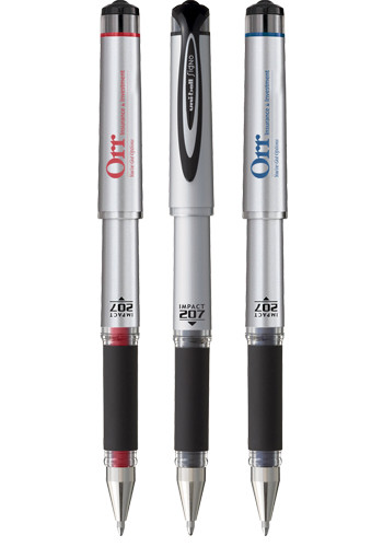 Personalized Uni-Ball 207 Gel Impact Capped Pens