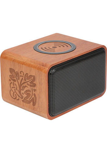 Wood Bluetooth Speakers With Wireless Charging Pad  LE719705