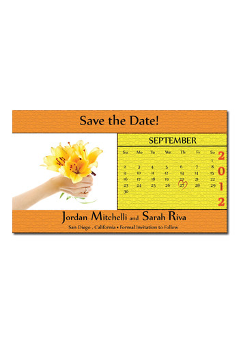 Yellow Flowers and Calendar 3.5in x 2in Magnets