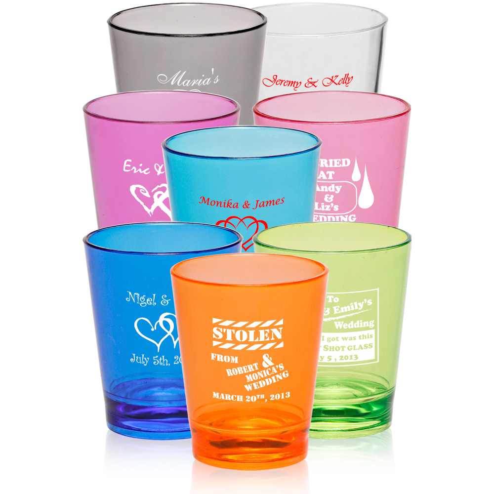 wholesale custom plastic shot glasses for wedding favors amp bars
