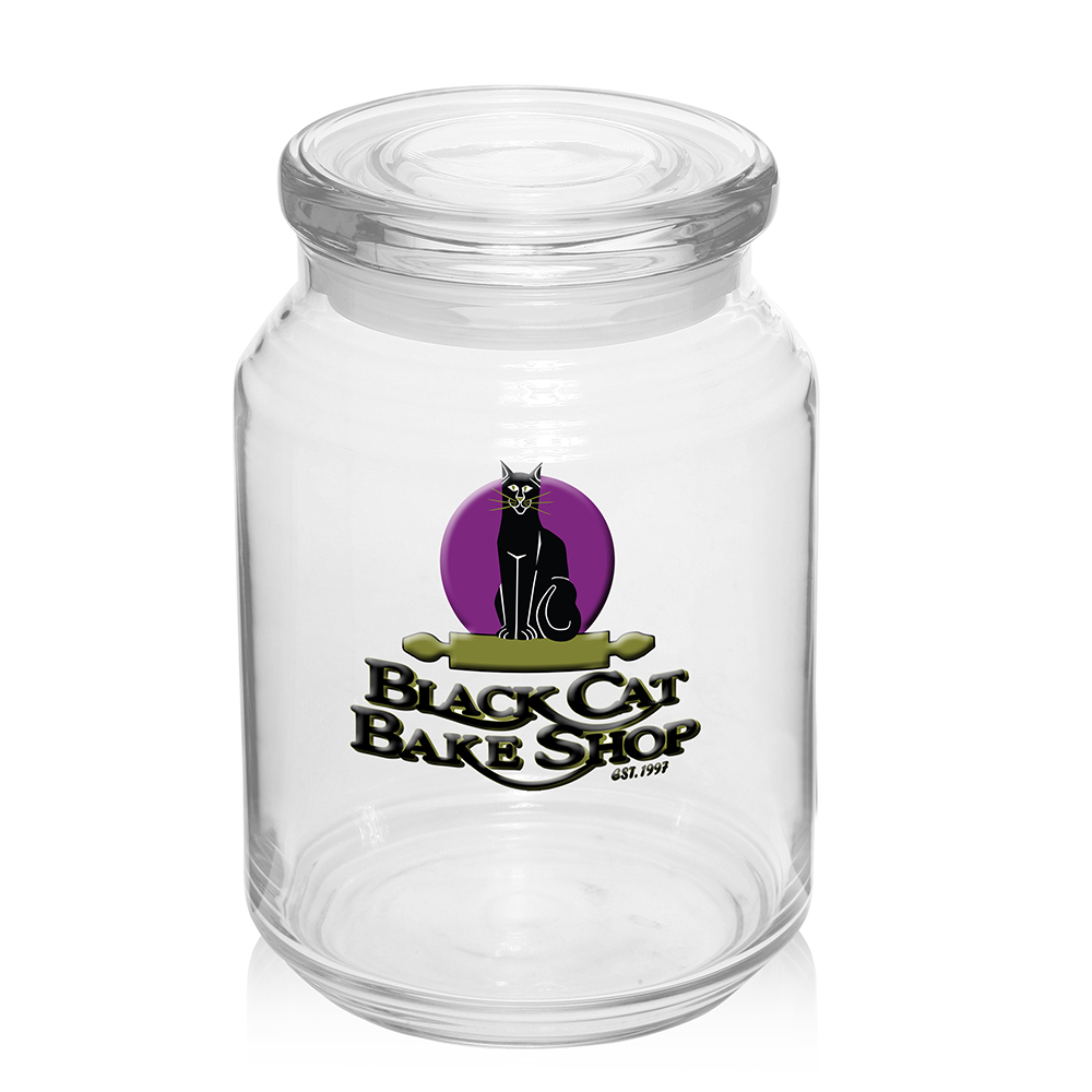 personalized 26 oz arc flat lid candy jars 08294fl discountmugs