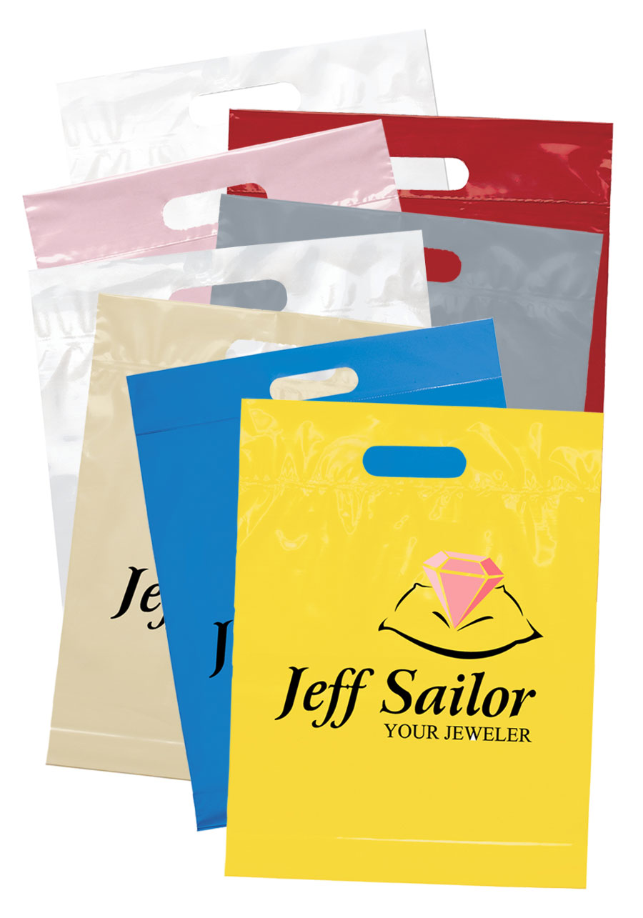 Customized Cut Handle Plastic Bags