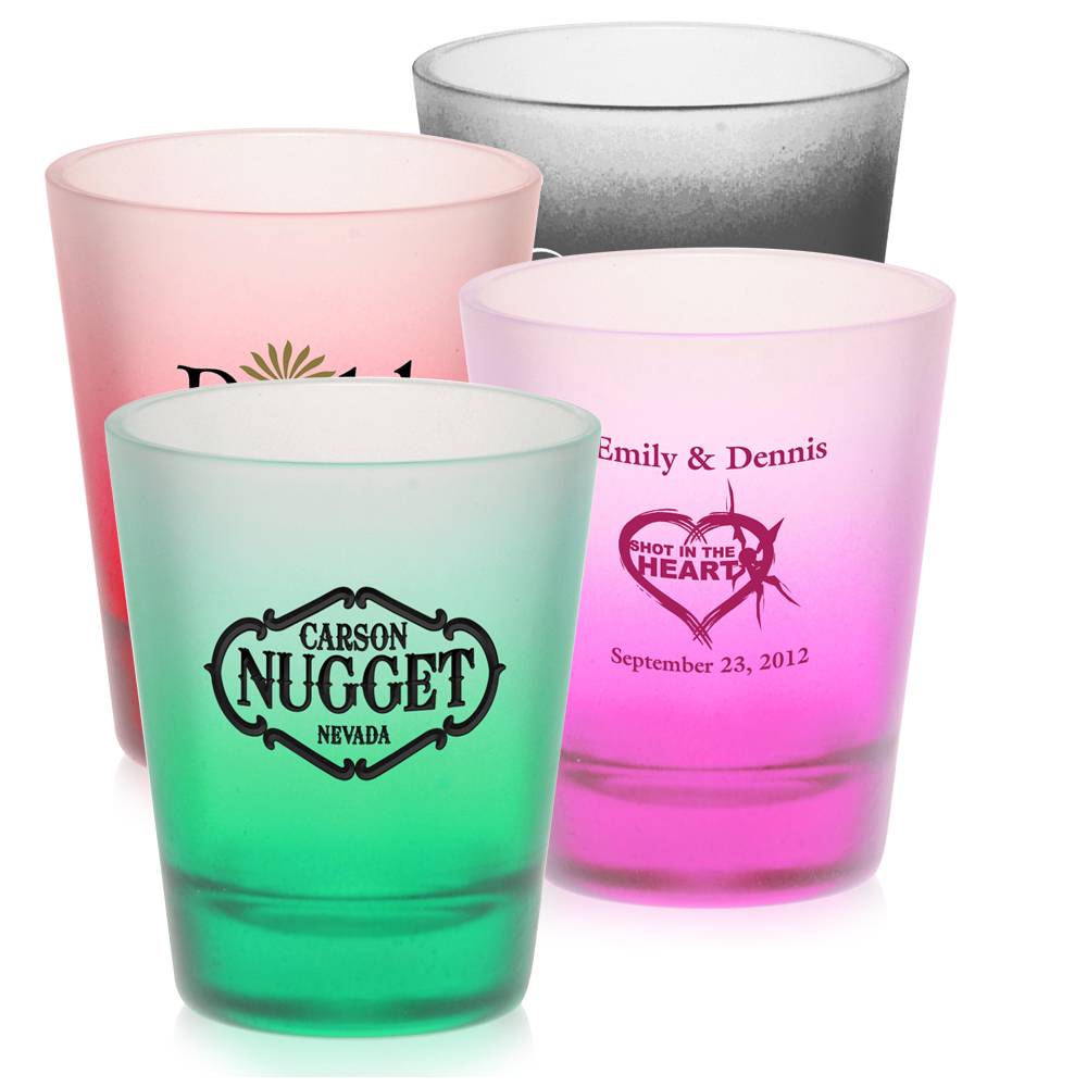 2 oz. Shot Glasses w Frosted Glass | 5123FR - DiscountMugs
