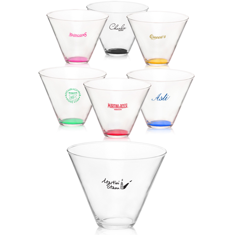 personalized 13 5 oz  personal stemless martini glasses