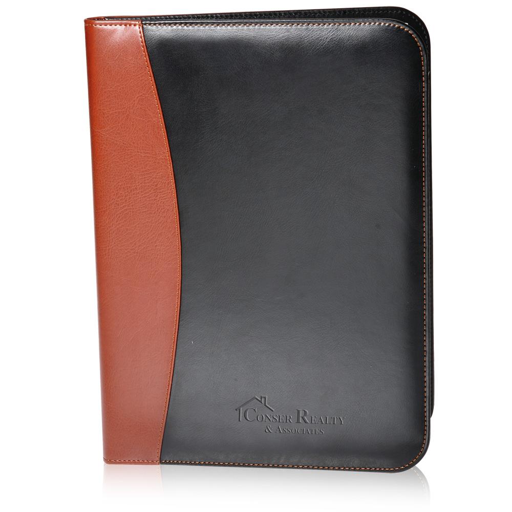 Personalized Two Tone Leather Portfolios Pf56 Discountmugs