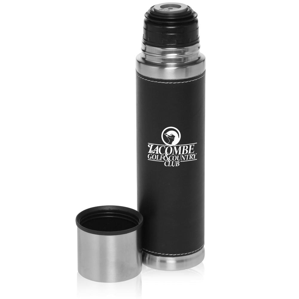 17 Oz Custom Vacuum Flasks Pu Leather Stainless Steel