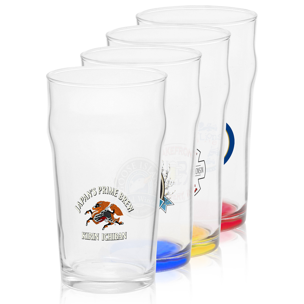 Cheap Personalized Wedding Beer Mugs : Personalized 19 oz. Arc Nonic Beer Glasses 58220DiscountMugs