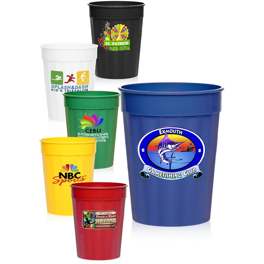 custom 17 oz fluted stadium cups sc17fl discountmugs