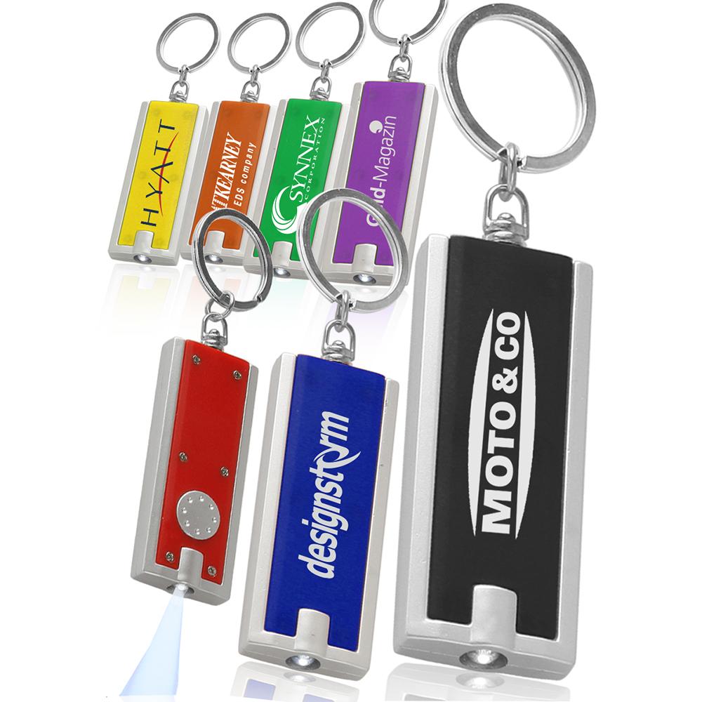 Custom Rectangle Light Keychains With Logo
