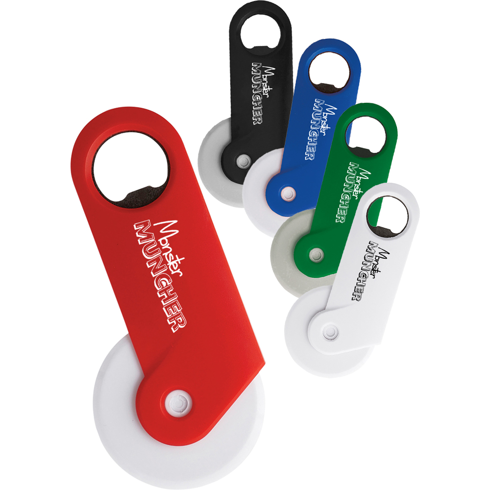 Personalized Pizza Cutters With Bottle Opener Sm2110 Discountmugs