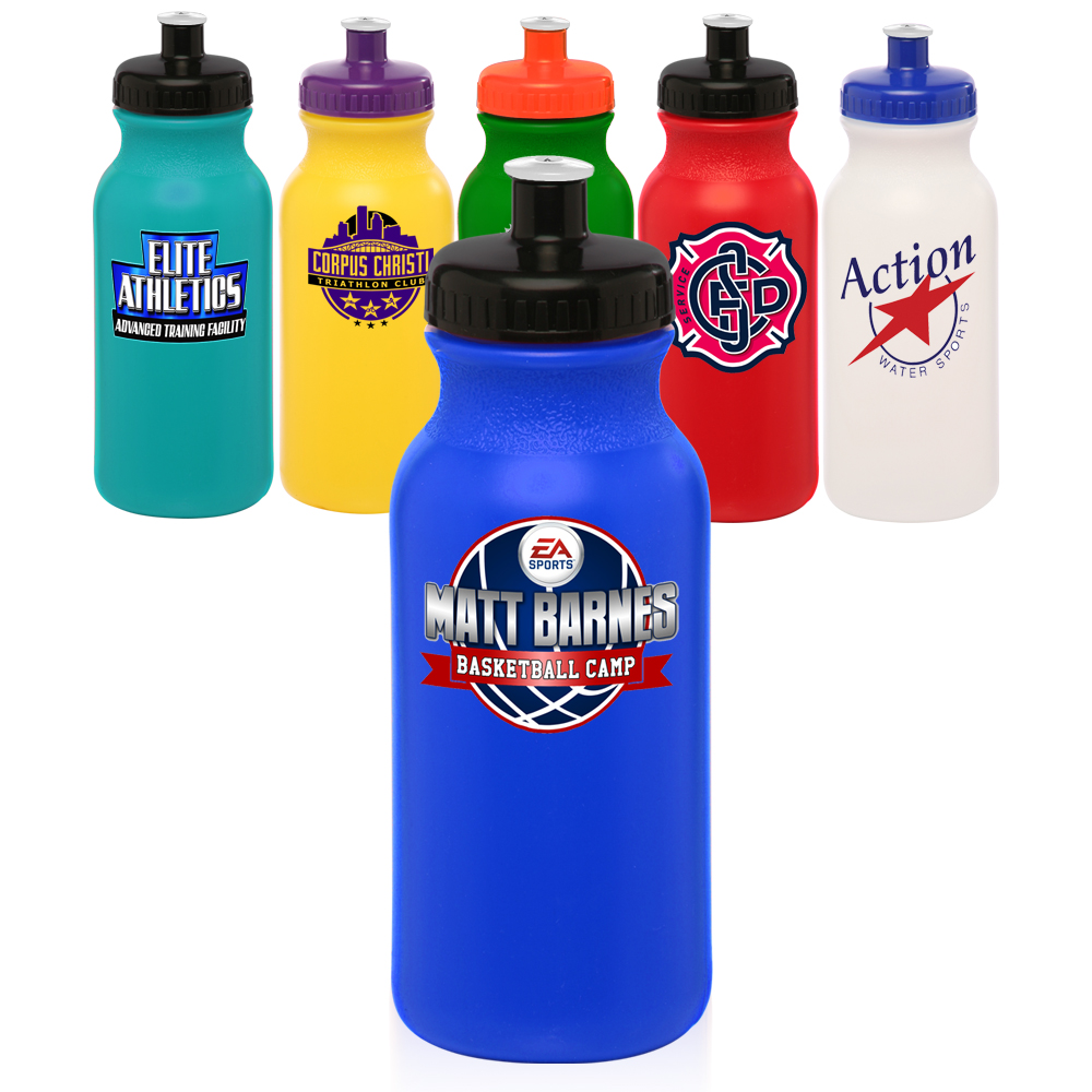 custom plastic water bottles printed with logo discount mugs