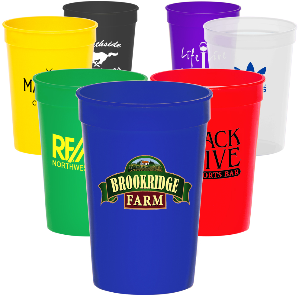 personalized plastic cups customized with logo from 16 discountmugs