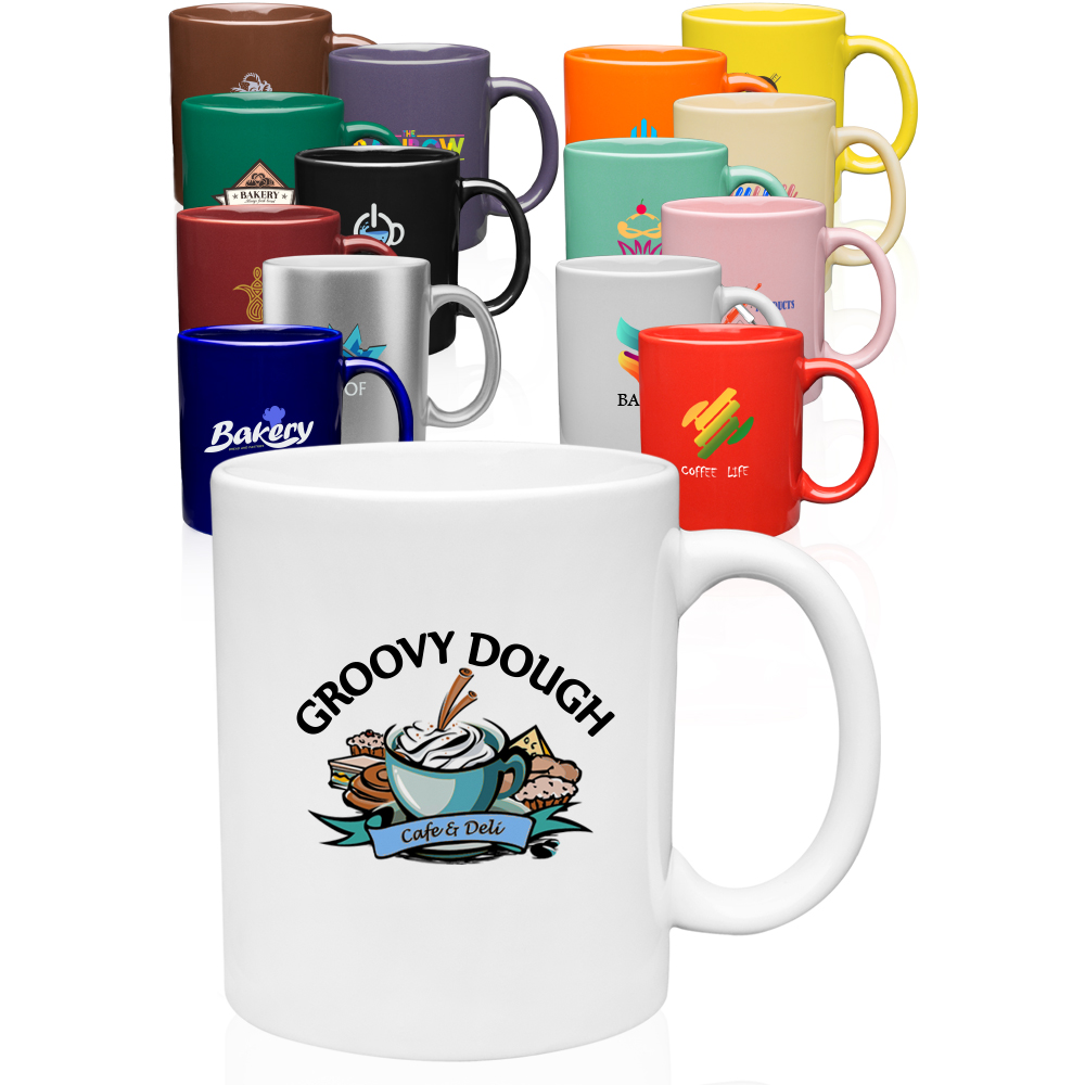 Custom Coffee Mugs Personalized with Logo from 59¢ | DiscountMugs