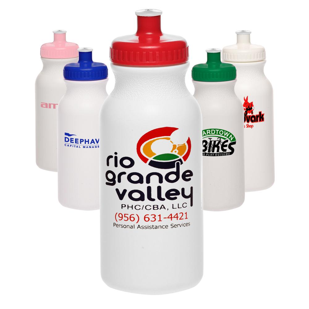 Custom Plastic Water Bottles Printed with Logo   Discount Mugs