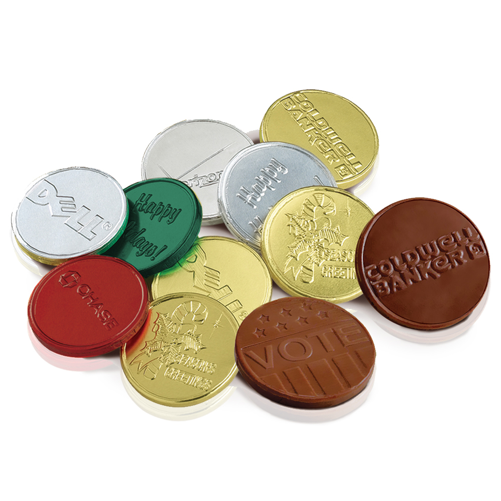 Personalized Embossed Gmet Chocolate Coins X10363
