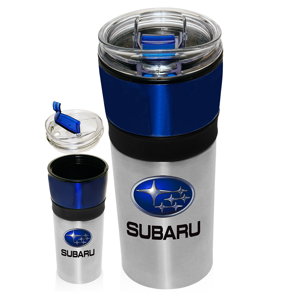 Two tone 16 oz stainless steel travel mugs personalized - Travel mug stainless steel interior ...