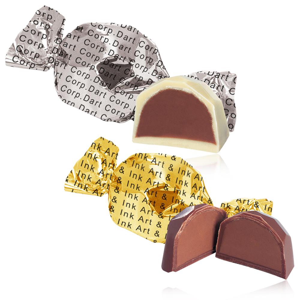 Personalized Belgian Chocolate Truffles In Twist Wrap Foil