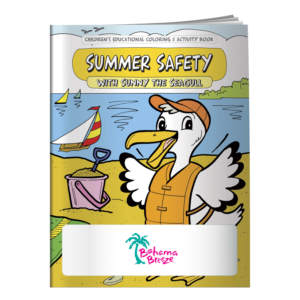 Custom Coloring Books: Summer Safety   X11074 - DiscountMugs