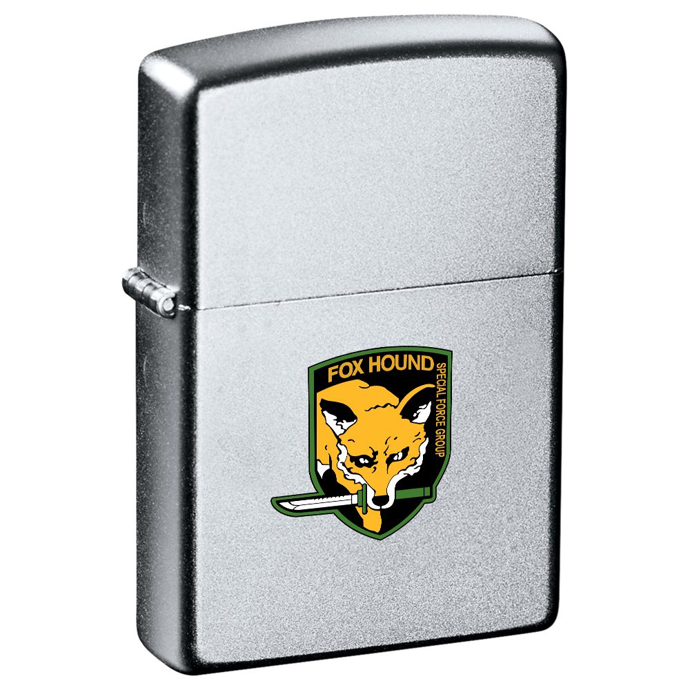 Imprinted zippo 174 satin chrome lighters personalized with logo
