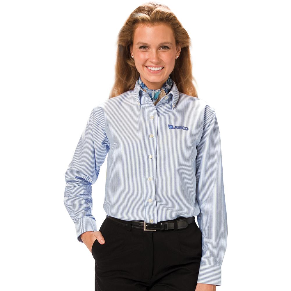Printed ladies long sleeve oxford shirts for T shirt printing oxford