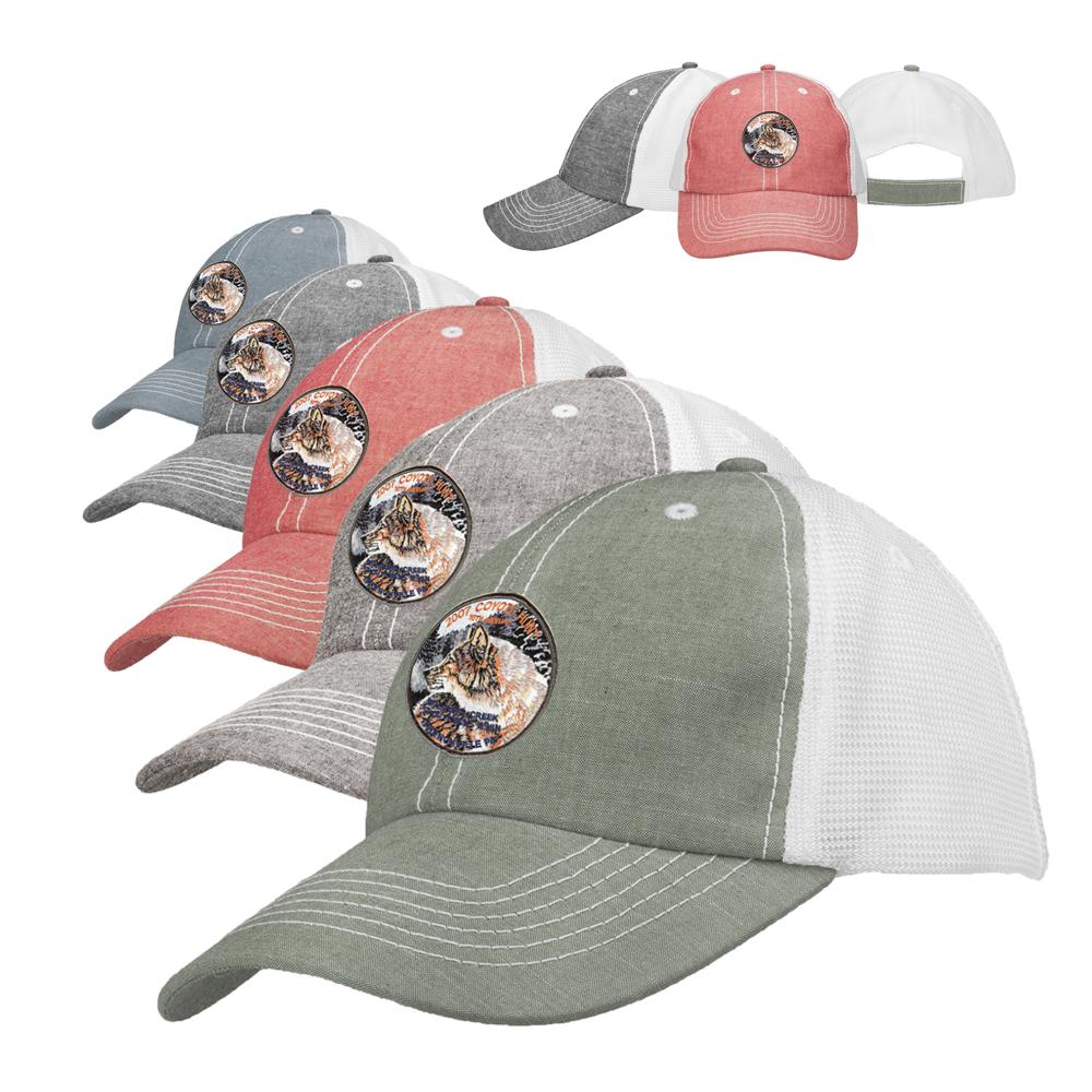6216f2e8 Embroidered Montclair Distressed Baseball Caps | CAP69 - DiscountMugs
