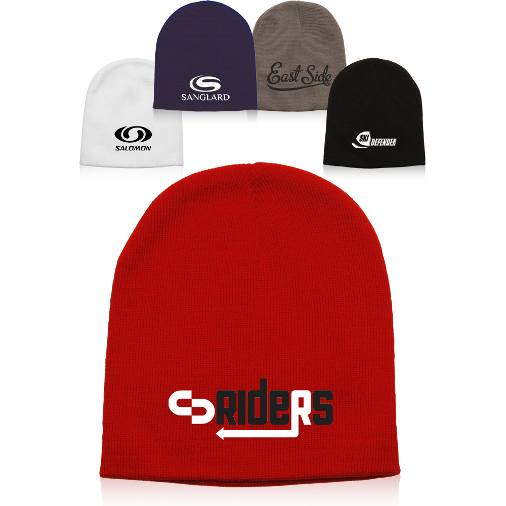 Knit Custom Beanie Hats Embroidered & Personalized at Wholesale