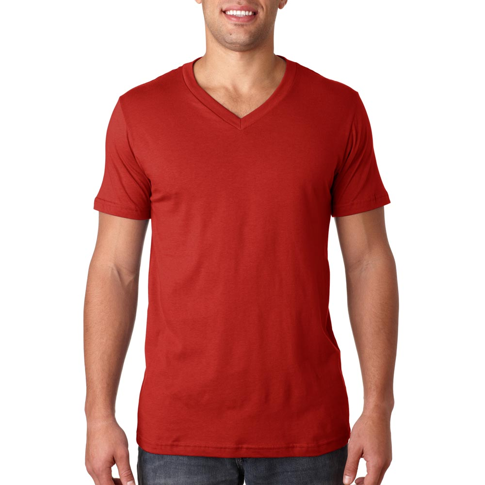 Printed Bella Canvas Unisex Short-Sleeve V-Neck Tees  4a6b761a5027