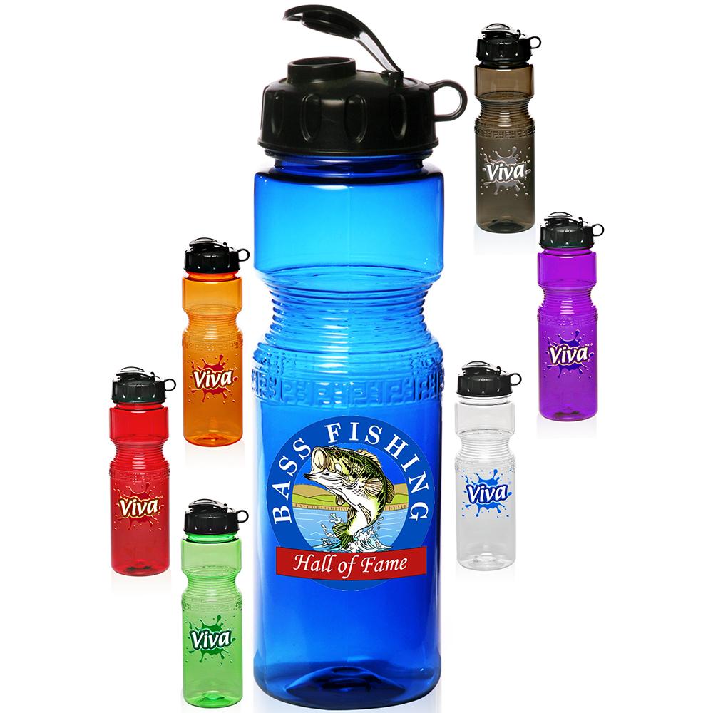 Custom 28 oz plastic sports bottles pc28 discountmugs for Unique plastic bottles