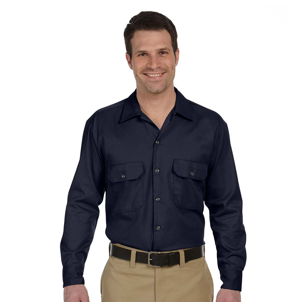 Personalized dickies adult long sleeve work shirts 574 for Custom work shirts cheap