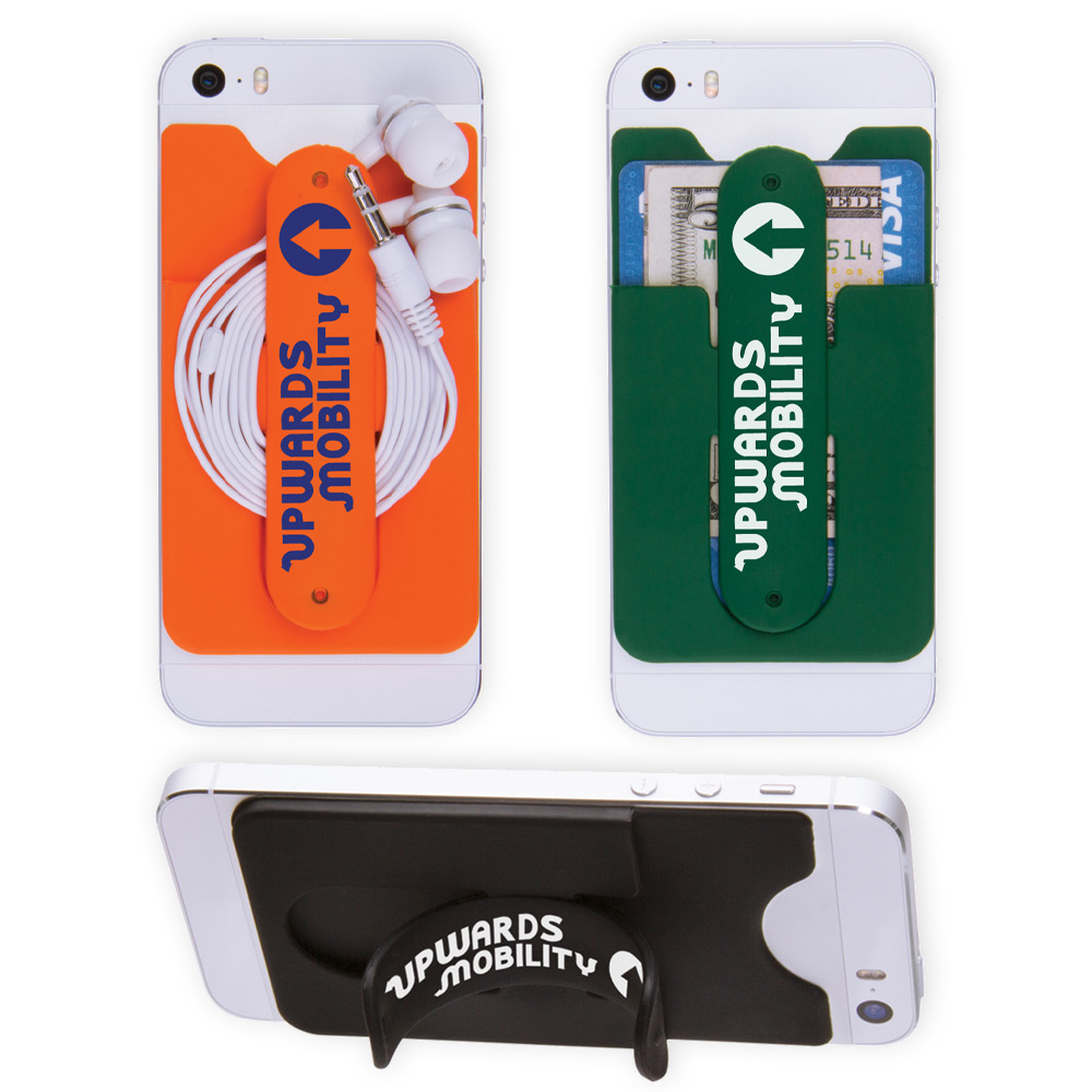 customized 3 in 1 cell phone card holders - Custom Adhesive Cell Phone Card Holder