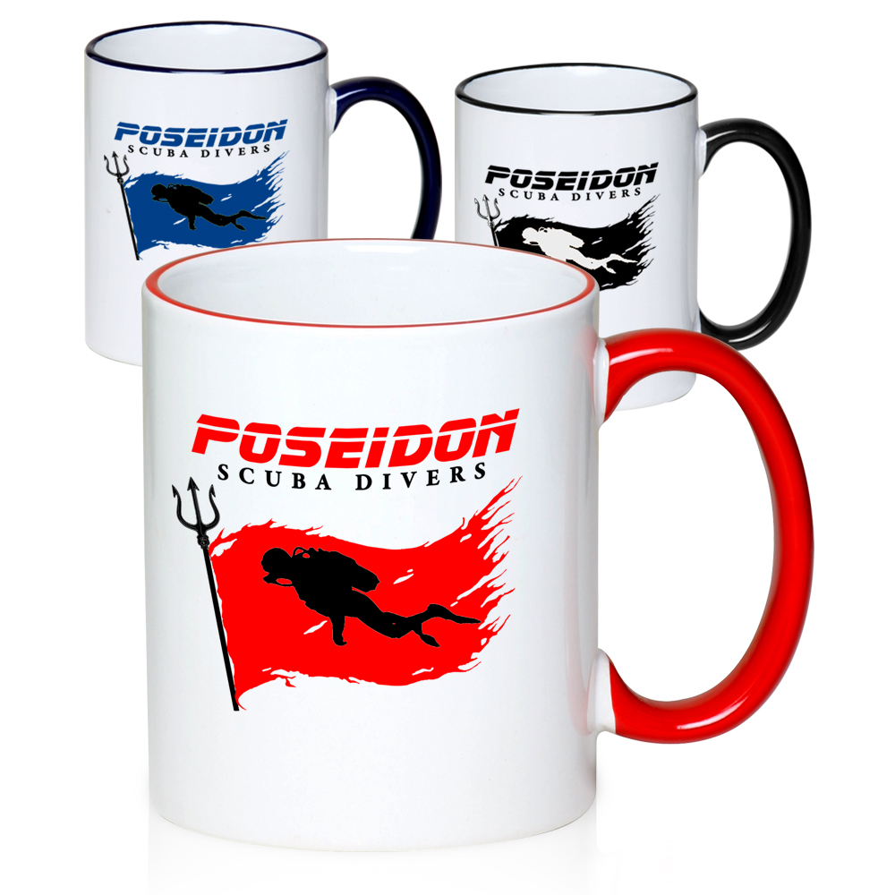 Custom Two Tone Coffee Mugs in Bulk | Personalized Two-Tone Mugs