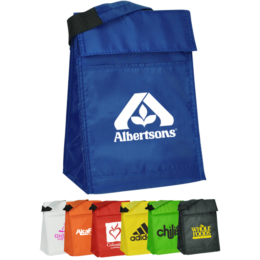 ee5fe6c71b5 Personalized Velcro Closure Insulated Lunch Bags | LUN02 - DiscountMugs