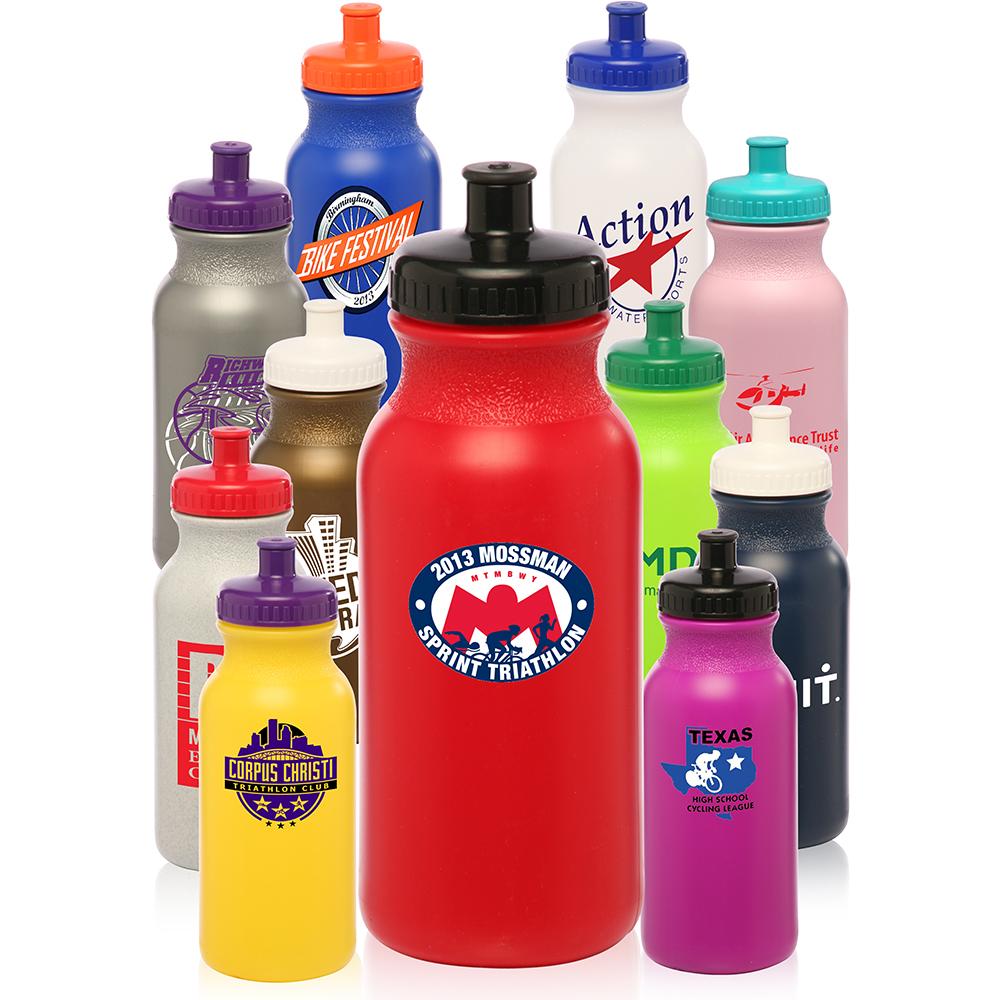 Logo wb20 20oz plastic custom water bottles for Unique plastic bottles