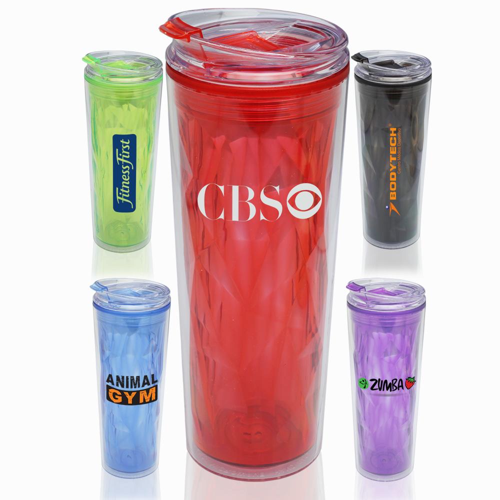 Plastic Travel Mugs Translucent Travel Coffee Mugs With Logo