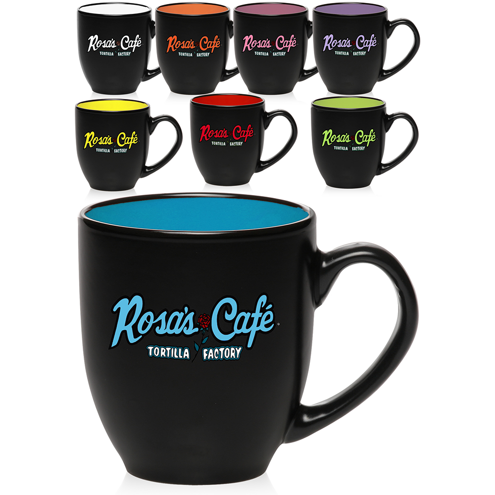 Personalized coffee mugs raleigh nc - Two Tone Bistro Mugs