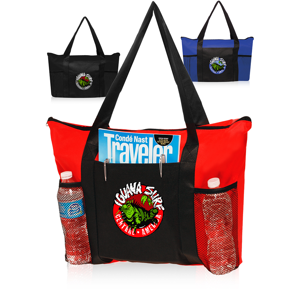 de4cc7e6c Gallery 1; Gallery 2. Watch Product Video Watch Product Video Watch Product  Video. Zippered Non-Woven Tote Bags
