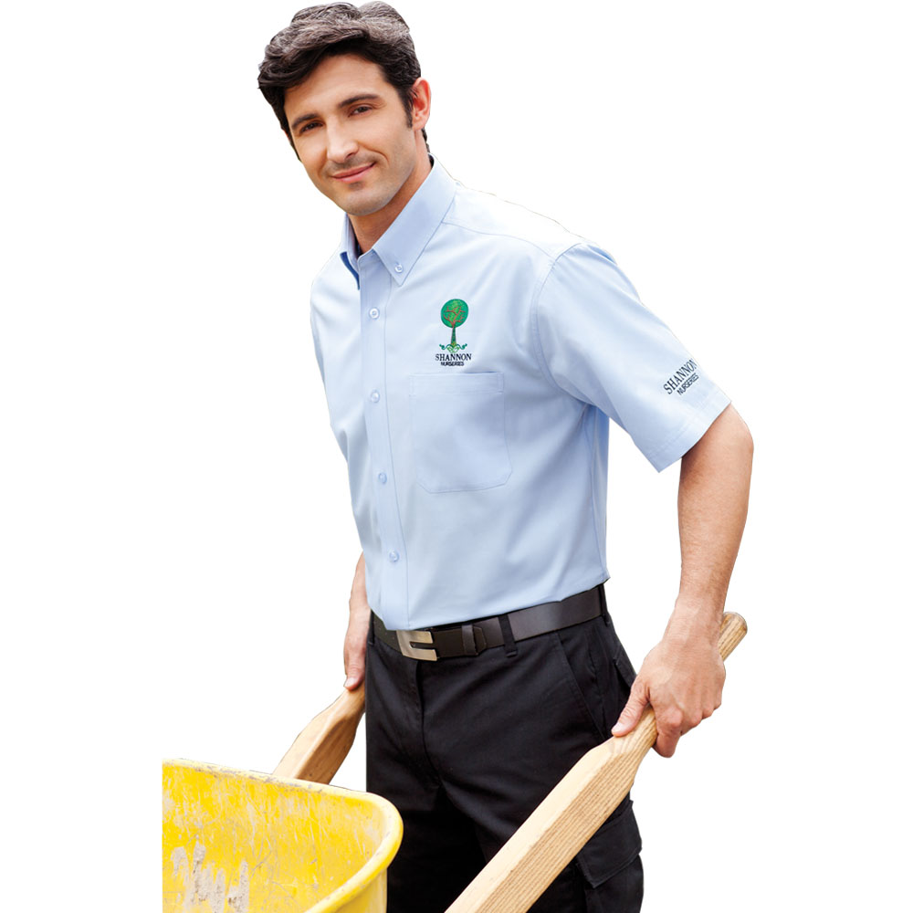 Custom Mens Colter Short Sleeve Dress Shirts Letm17743 Discountmugs