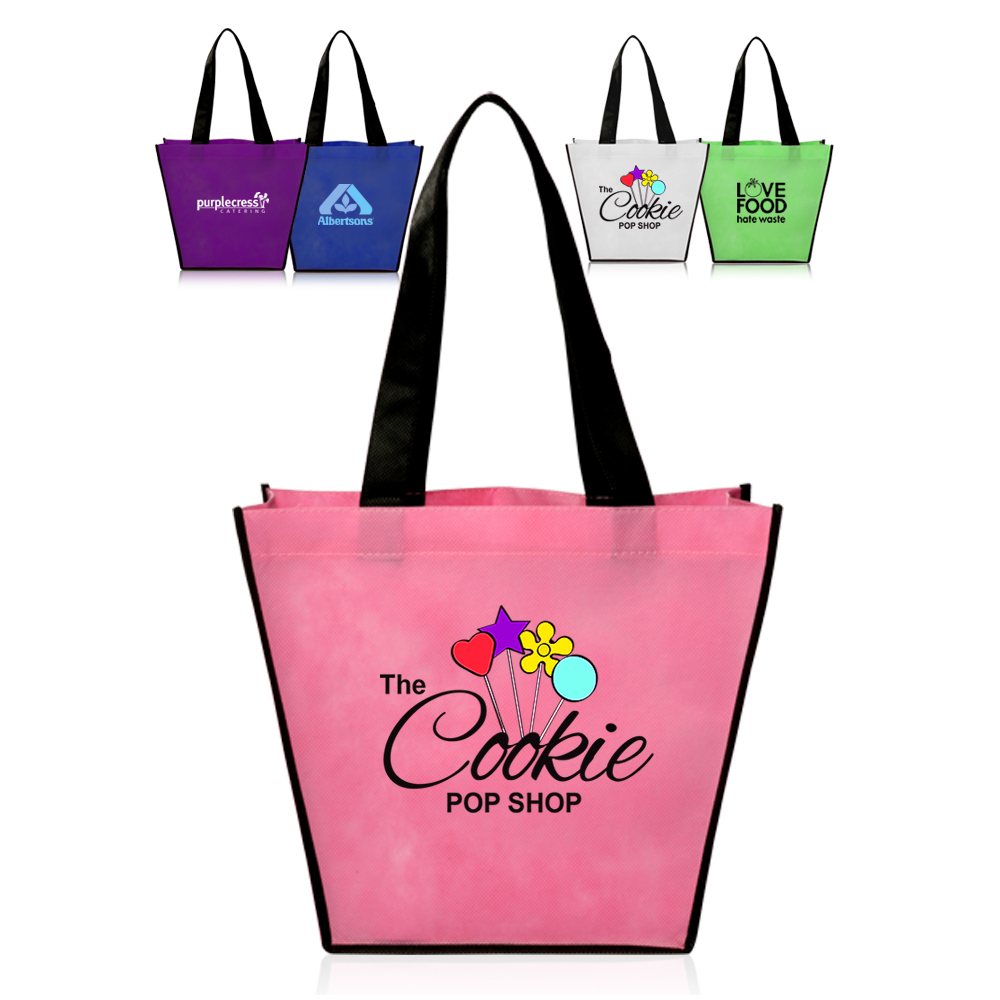 Personalized Non-Woven Handy Tote Bags | TOT39 - DiscountMugs